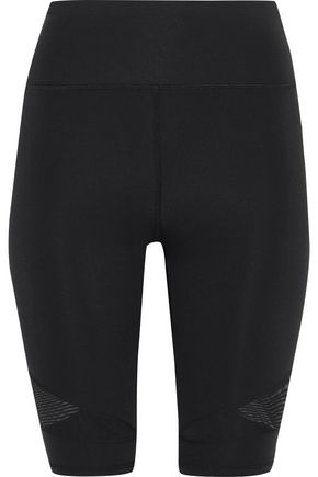 IRIS & INK Mesh-paneled stretch shorts