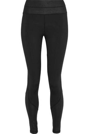 IRIS & INK Paneled coated stretch leggings