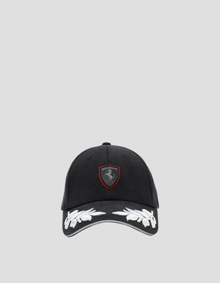 Scuderia Ferrari Online Store - Women's hat with laurel leaf embroidery - Baseball Caps