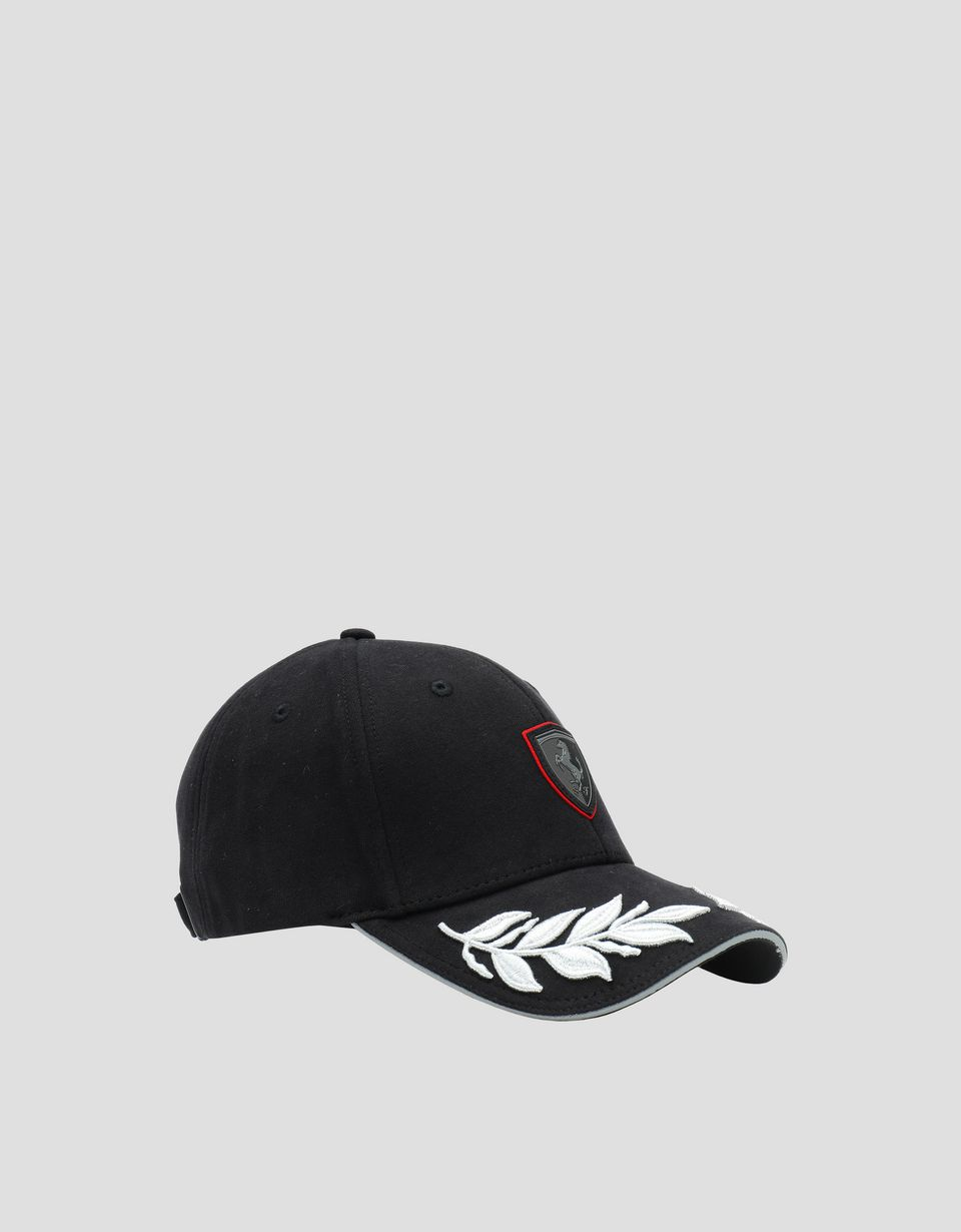 Scuderia Ferrari Online Store - Women's hat with laurel leaf embroidery - Basecaps