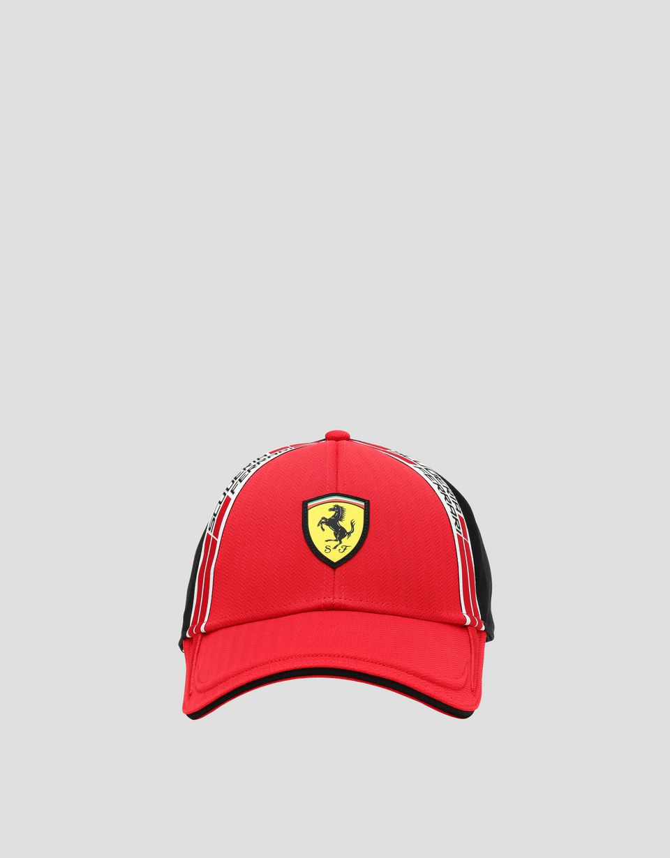 Scuderia Ferrari Online Store - Men's hat in technical fabric with Icon Tape - Baseball Caps