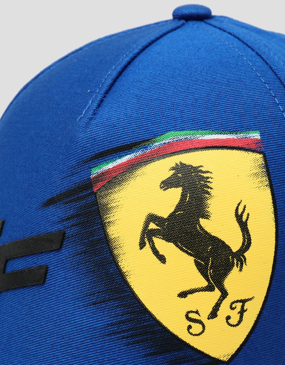 Scuderia Ferrari Online Store - Children's hat with motion-effect Ferrari Shield - Baseball Caps