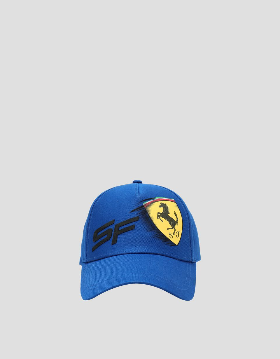 Scuderia Ferrari Online Store - Children's hat with motion-effect Ferrari Shield -
