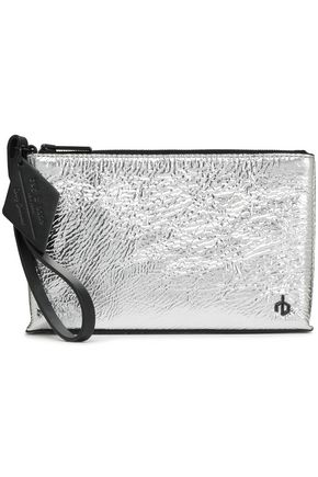 RAG & BONE Metallic leather clutch