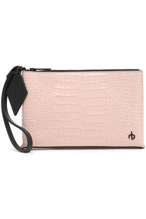 RAG & BONE Croc-effect leather pouch