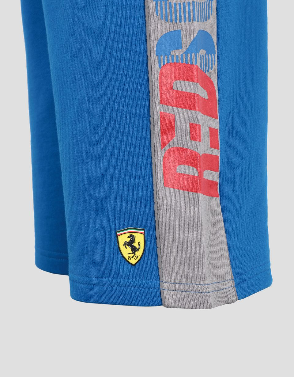 Scuderia Ferrari Online Store - Boys' French terry shorts with RED SOUL wording - Shorts