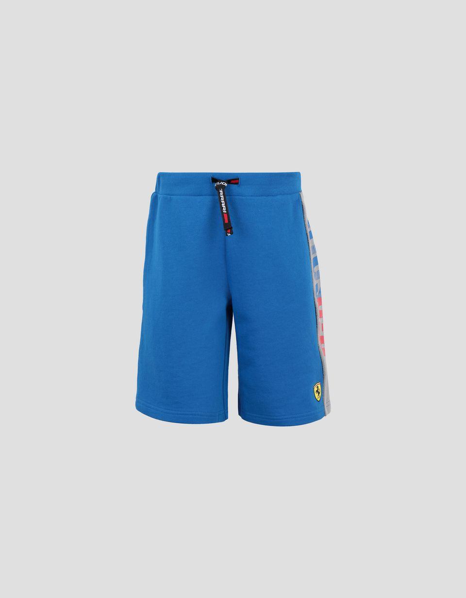 Scuderia Ferrari Online Store - Boys' French terry shorts with RED SOUL wording -