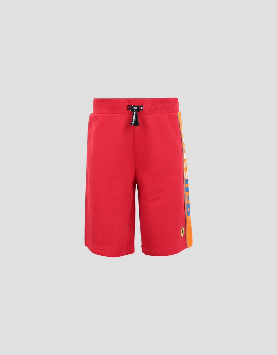 Scuderia Ferrari Online Store - Short junior en French Terry avec inscription RED SOUL - Shorts