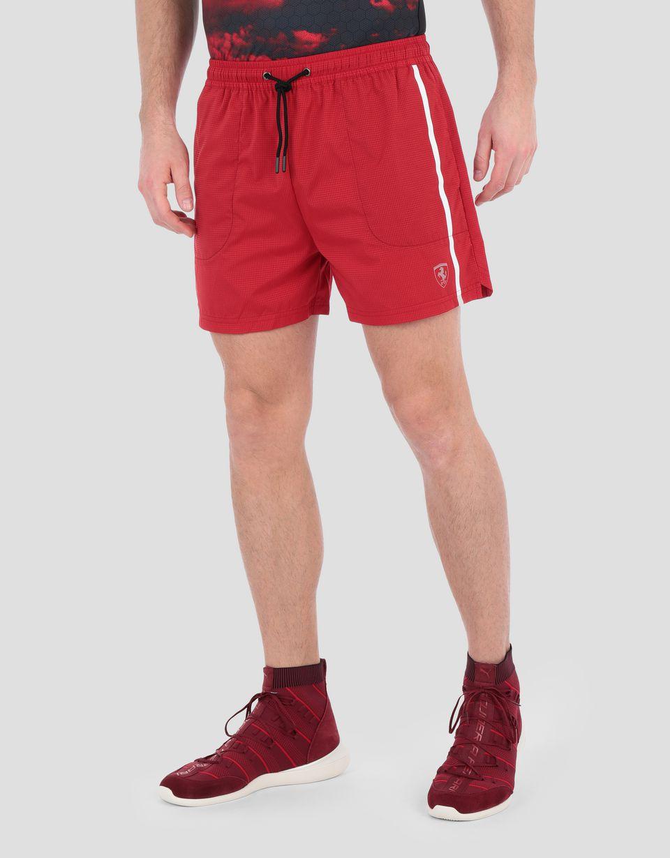 Scuderia Ferrari Online Store - Men's running shorts in rip-stop - Shorts