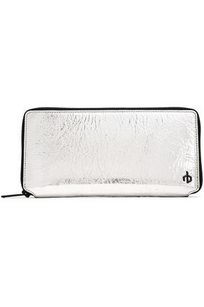 RAG & BONE Metallic crinkled leather wallet