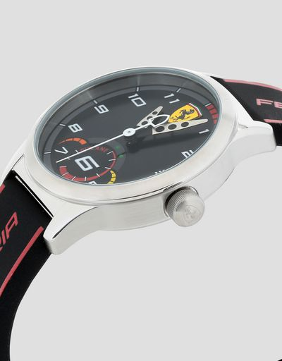 Boys' black Pitlane watch with red details