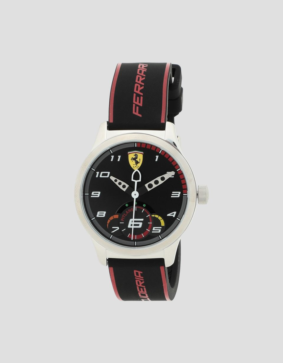 Scuderia Ferrari Online Store - Boys' black Pitlane watch with red details -