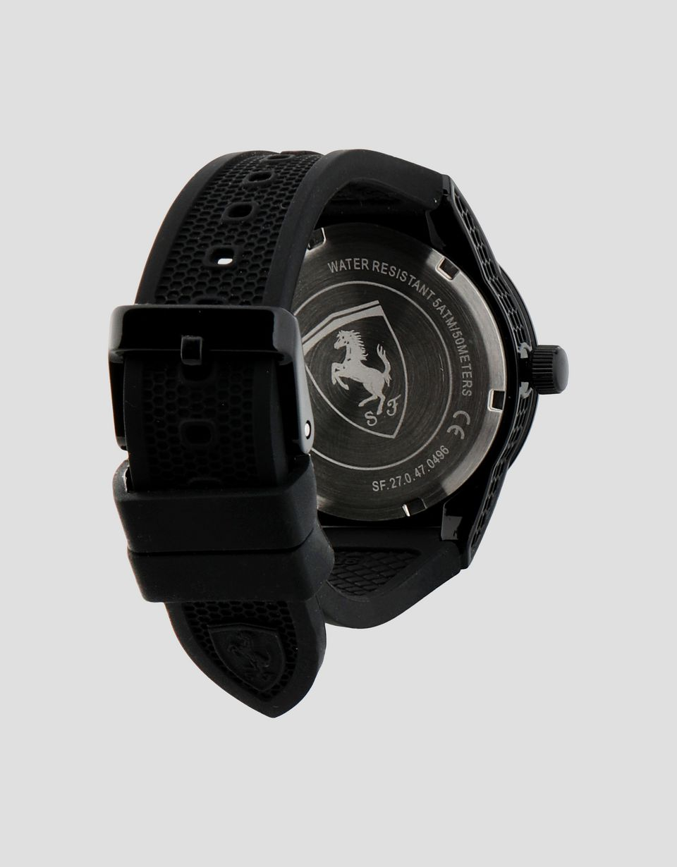 Scuderia Ferrari Online Store - Black Red Rev watch for teenagers with red details -