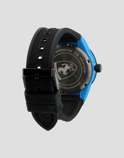 Scuderia Ferrari Online Store - Black Red Rev watch for teenagers with blue details - Quartz Watches
