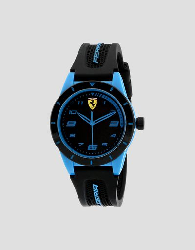Boys' black Red Rev watch with blue details