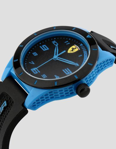 Black Red Rev watch for teenagers with blue details