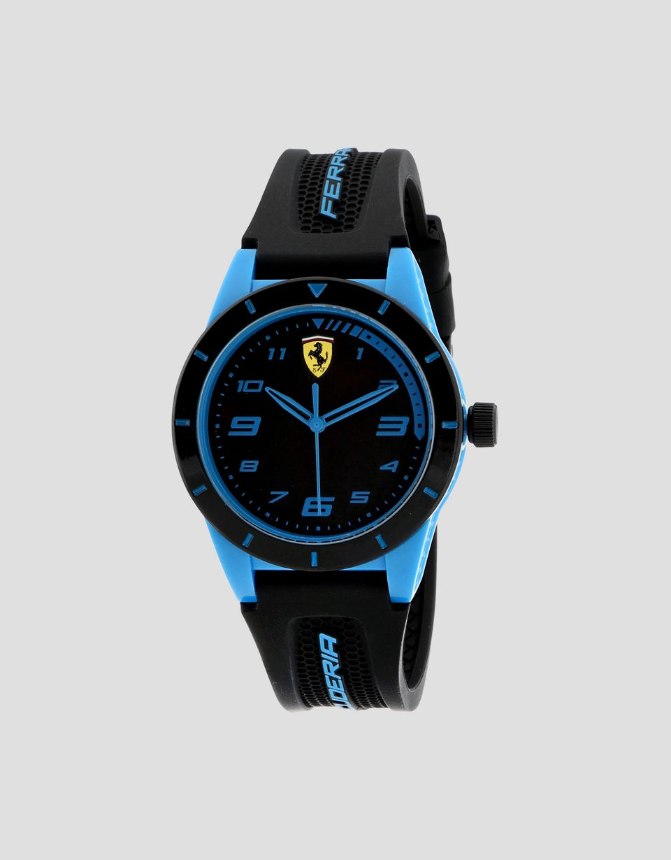 Scuderia Ferrari Online Store - Boys' black Red Rev watch with blue details - Quartz Watches