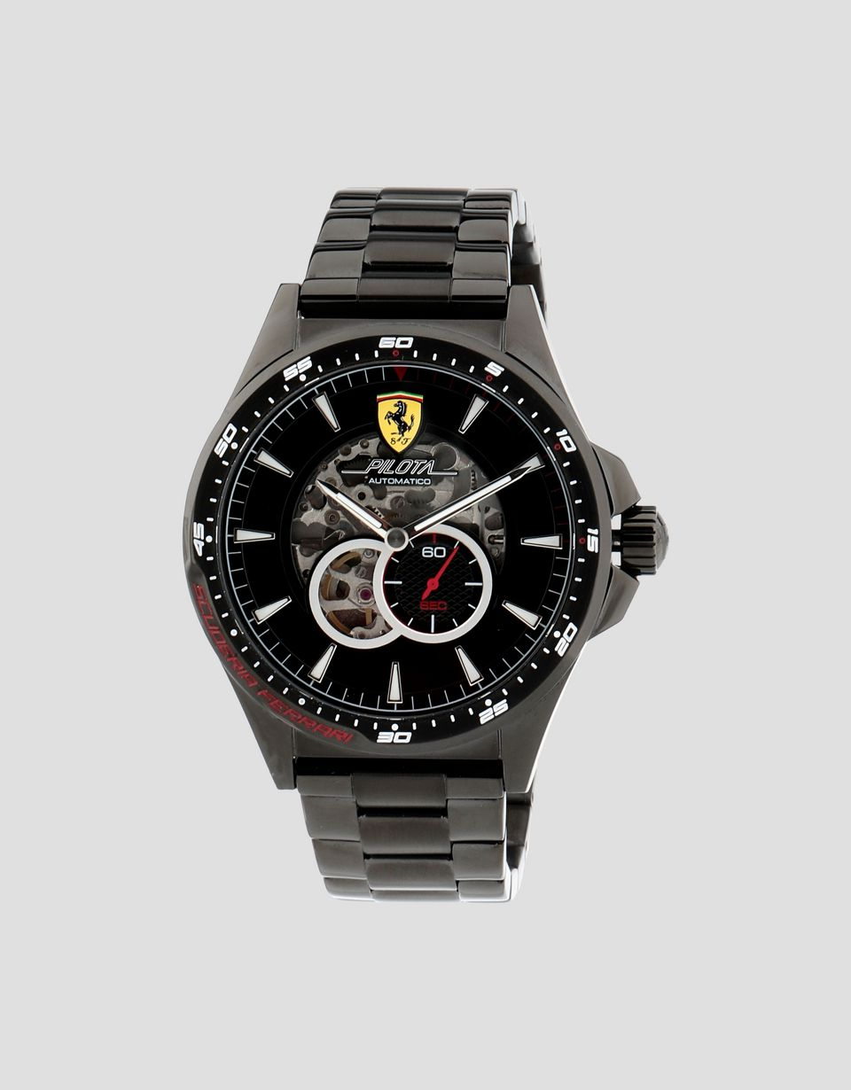 Scuderia Ferrari Online Store - Pilota watch with black wrist strap - Automatic Watches