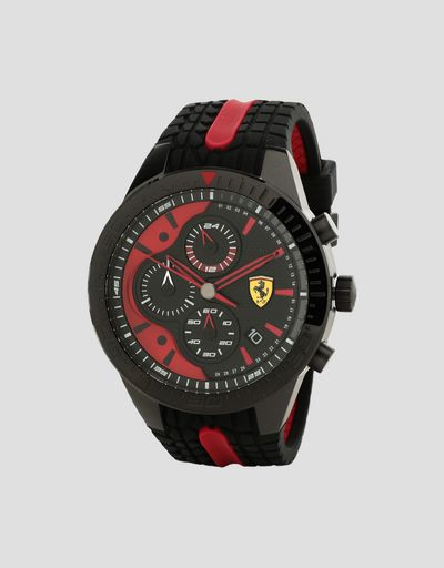 22022ef1a32 Black Red Rev EVO chronograph watch with red details ...