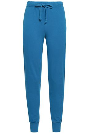 WILDFOX French cotton-terry track pants