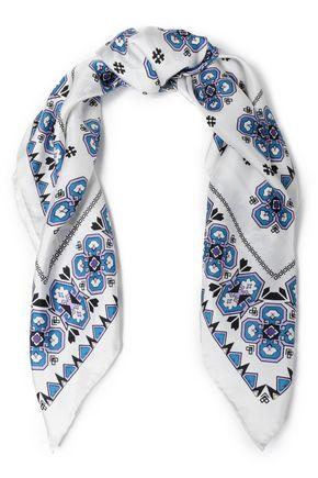SANDRO プリント シルクツイル スカーフ