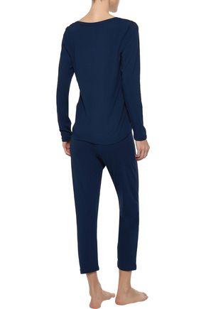 IRIS & INK Sadie mélange stretch-jersey pajama set