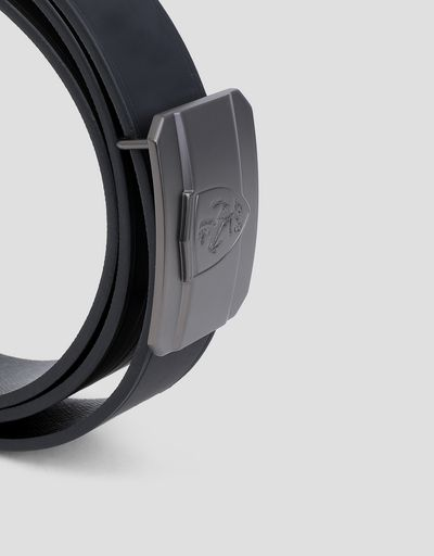 Scuderia Ferrari Online Store - Men's Scuderia Ferrari reversible belt - Reversible Belts