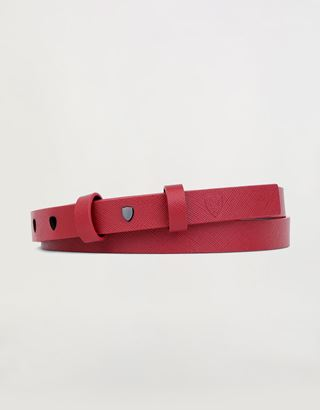 Scuderia Ferrari Online Store - Women's belt in Saffiano leather - Waist Belts