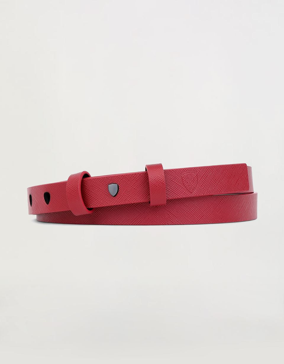 Scuderia Ferrari Online Store - Women's belt in Saffiano leather -