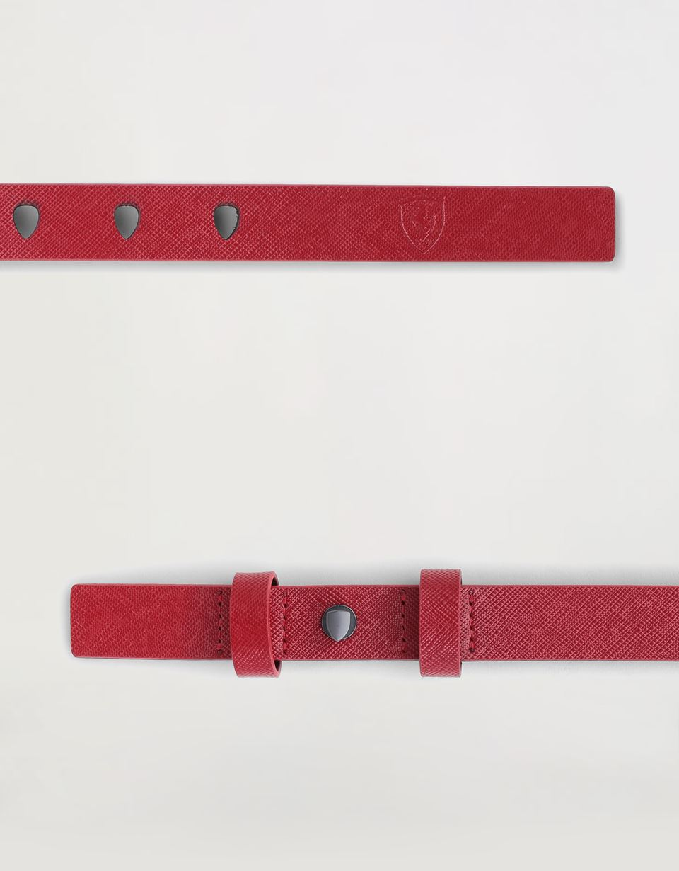 Scuderia Ferrari Online Store - Women's belt in Saffiano leather - Taillengürtel