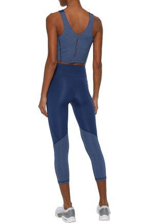 IRIS & INK Cropped paneled stretch leggings