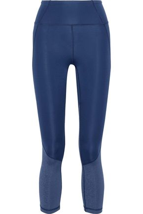 IRIS & INK Cropped paneled stretch leggings