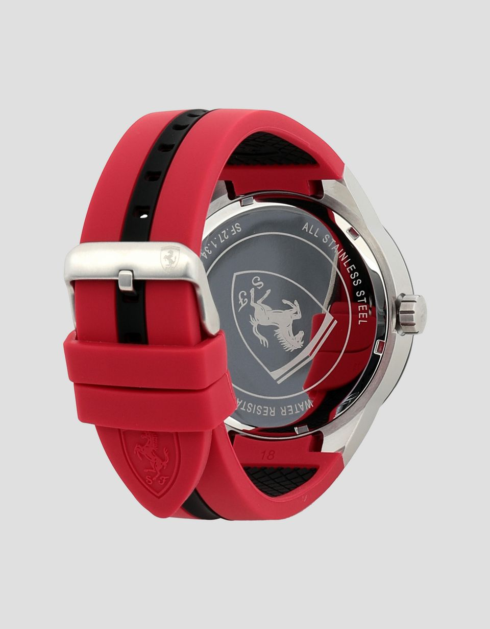 Scuderia Ferrari Online Store - Black Red Rev T watch with red details - Quartz Multifunctional Watch