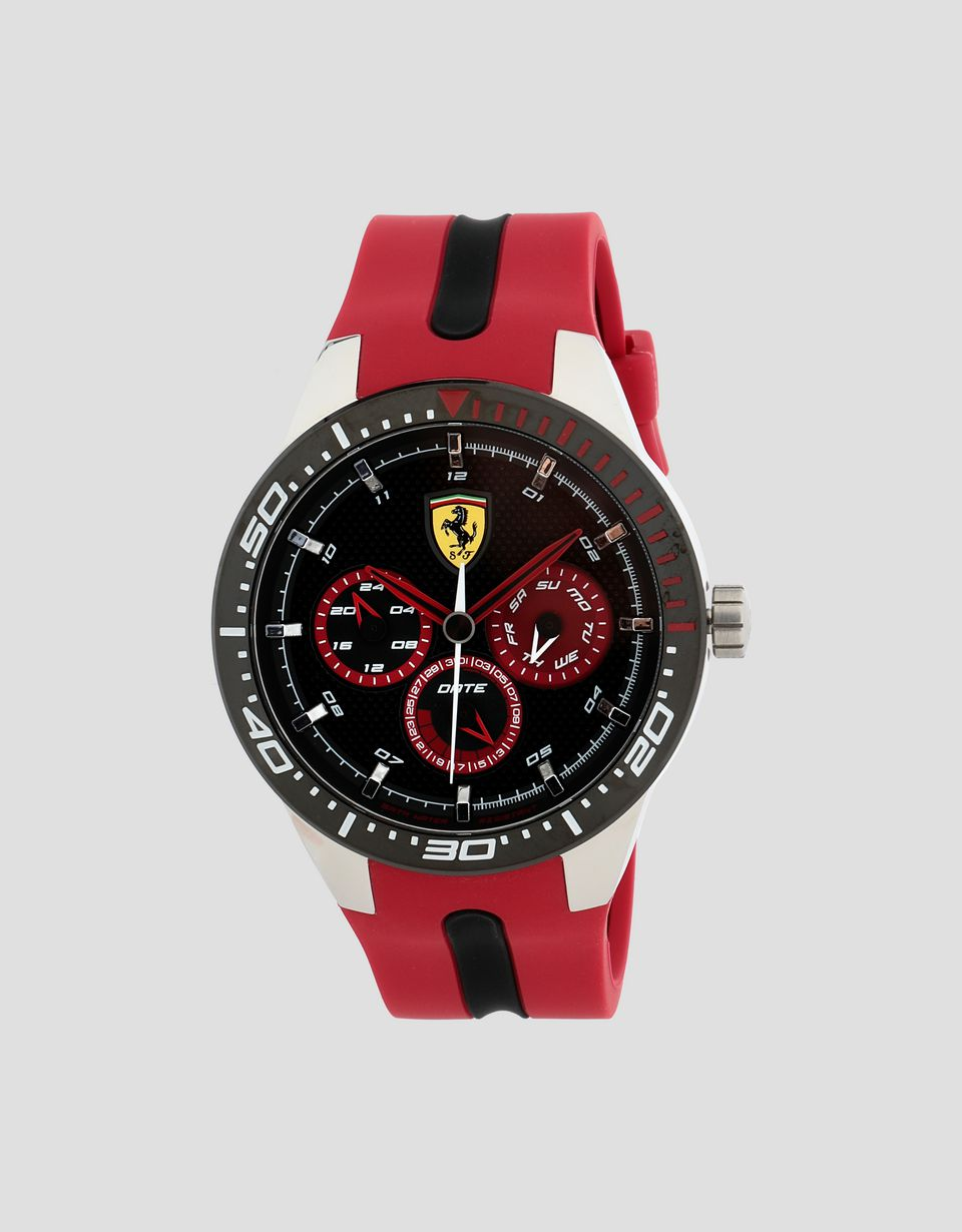 Scuderia Ferrari Online Store - Orologio Red Rev T nero con dettagli rossi - Quartz Multifunctional Watch