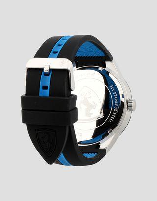 Scuderia Ferrari Online Store - Black Red Rev T watch with blue details - Quartz Multifunctional Watch