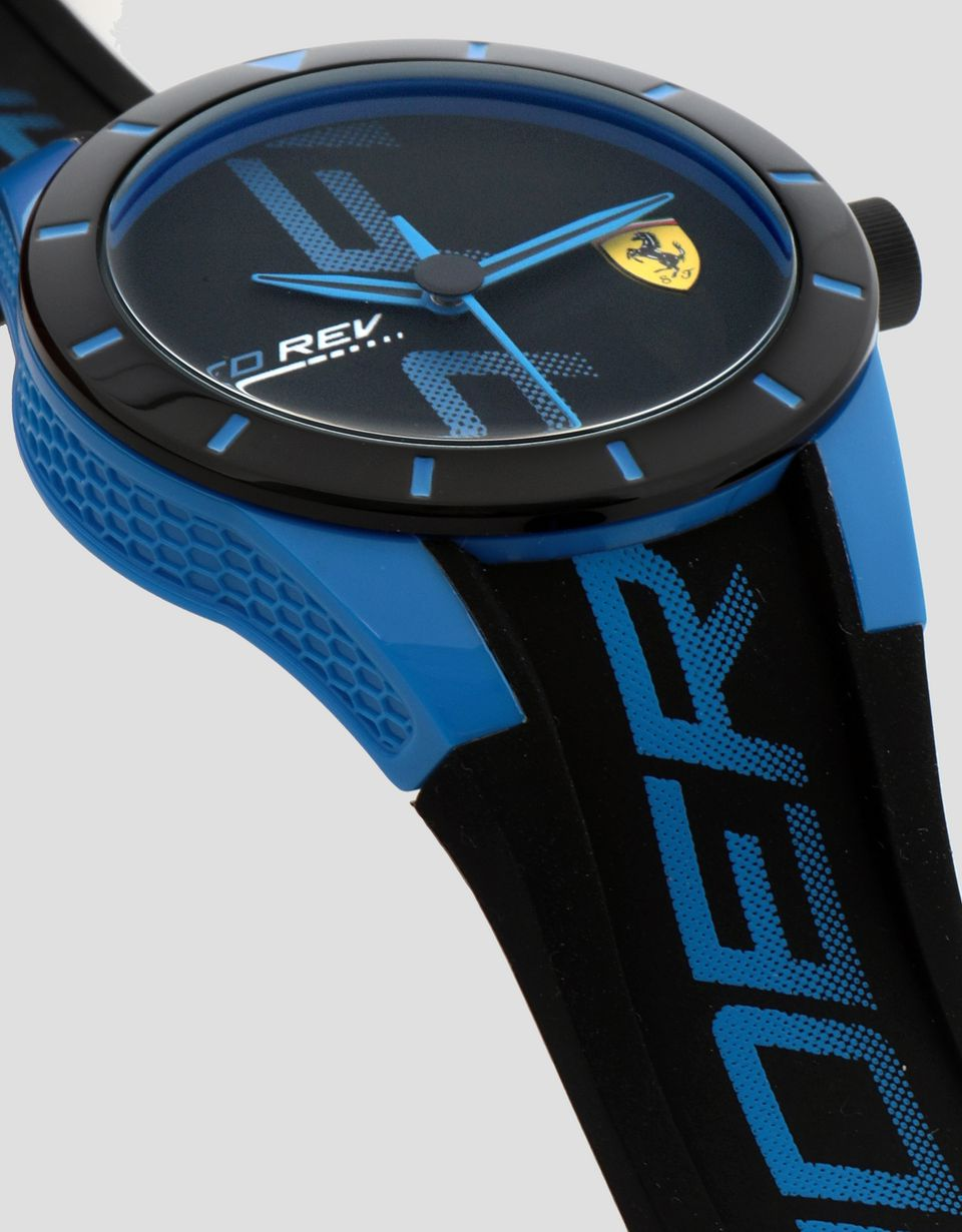 Scuderia Ferrari Online Store - Small black Red Rev watch with blue details -