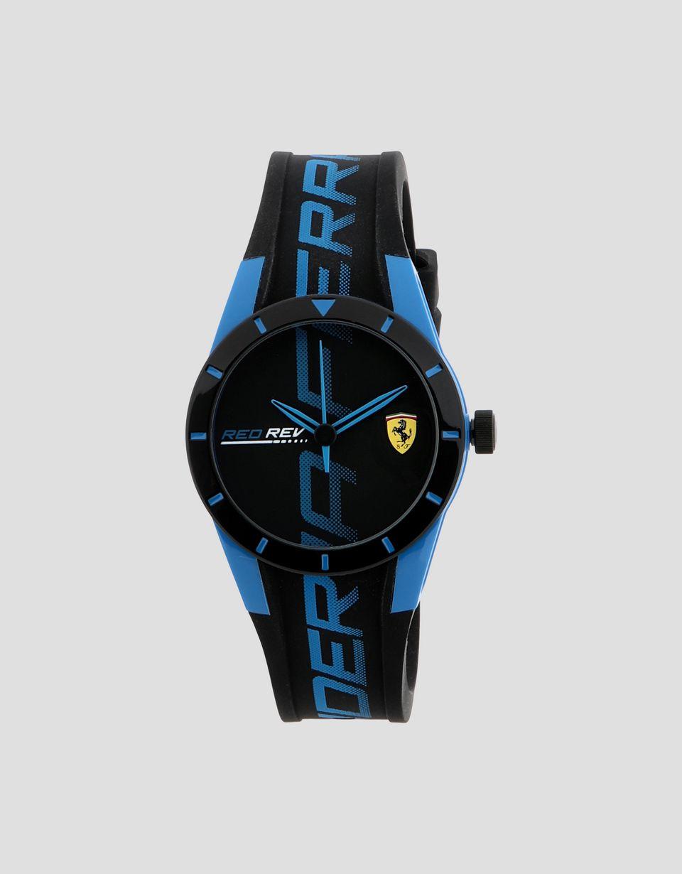 Scuderia Ferrari Online Store - Petite montre Red Rev noire avec détails bleus - Montres à quartz