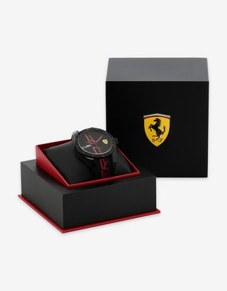 Scuderia Ferrari Online Store - Black Red Rev watch with logo and red details - Quartz Watches