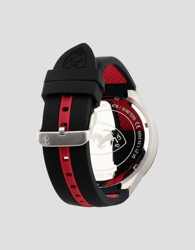 Scuderia Ferrari Online Store - Red Rev T watch with red dial and black wrist strap -