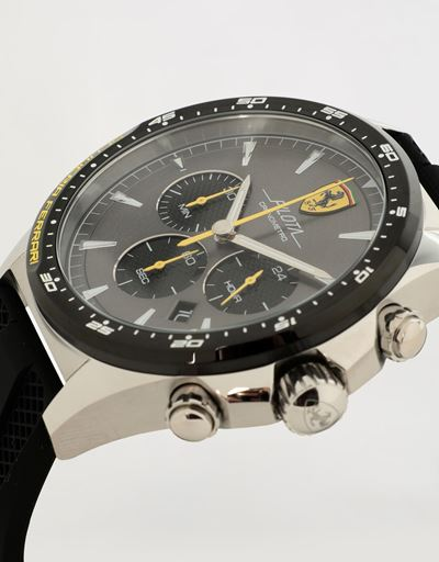 Pilota Chronograph watch with black silicone strap