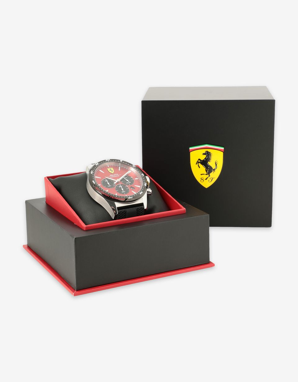 Scuderia Ferrari Online Store - Chronograph Pilota watch with red dial -
