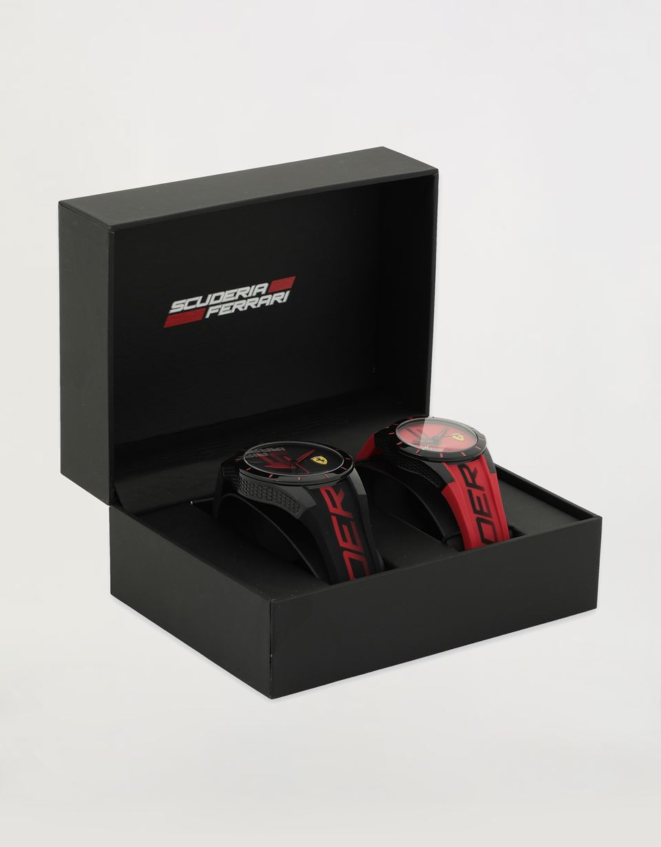 Scuderia Ferrari Online Store - Twin Red Rev watch gift set -