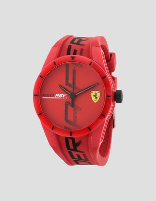 Scuderia Ferrari Online Store - Red Rev watch in red, available exclusively from the Ferrari Store - Quartz Watches