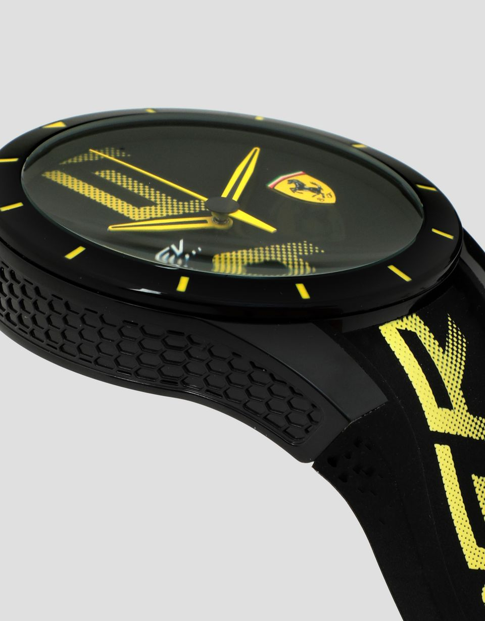 Scuderia Ferrari Online Store - Montre Red Rev noire avec logo et détails jaunes - Montres à quartz