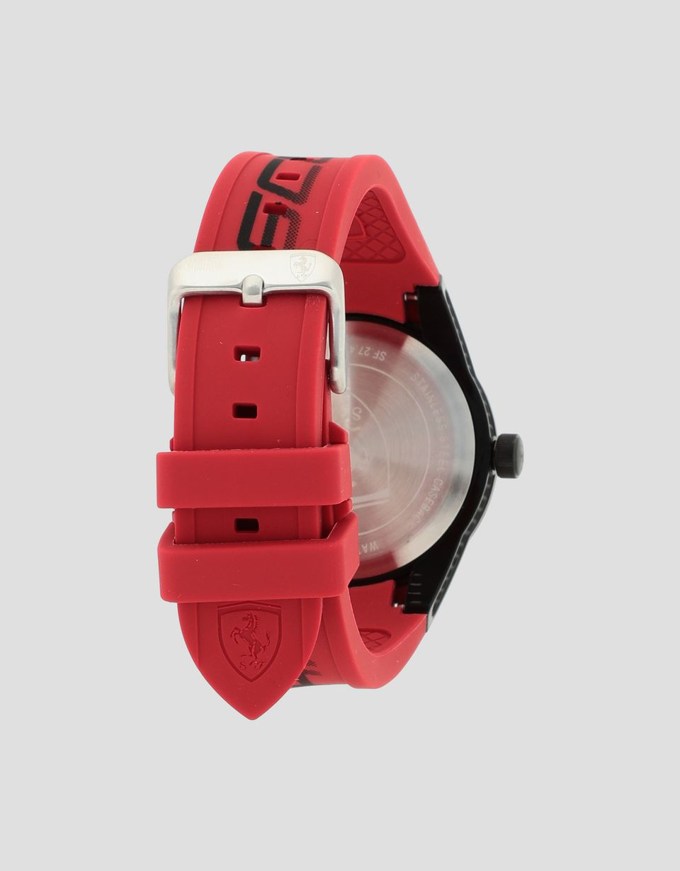 Scuderia Ferrari Online Store - Small red Red Rev watch with black detailing - Quartz Watches