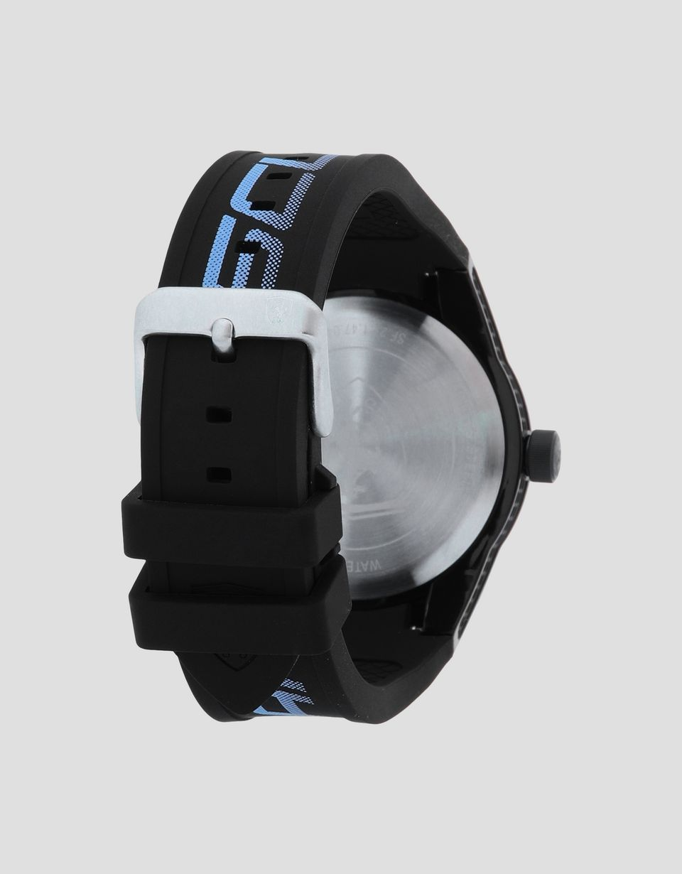 Scuderia Ferrari Online Store - Black Red Rev watch with blue logo and detailing -
