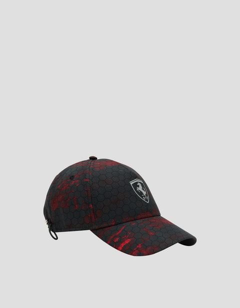 Men's cap with RED CLOUDS print