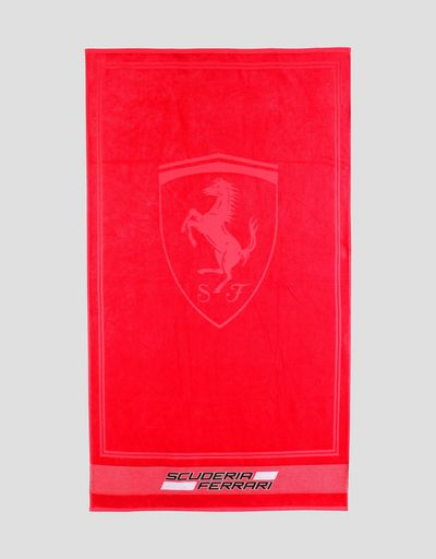 Cotton Scuderia Ferrari beach towel