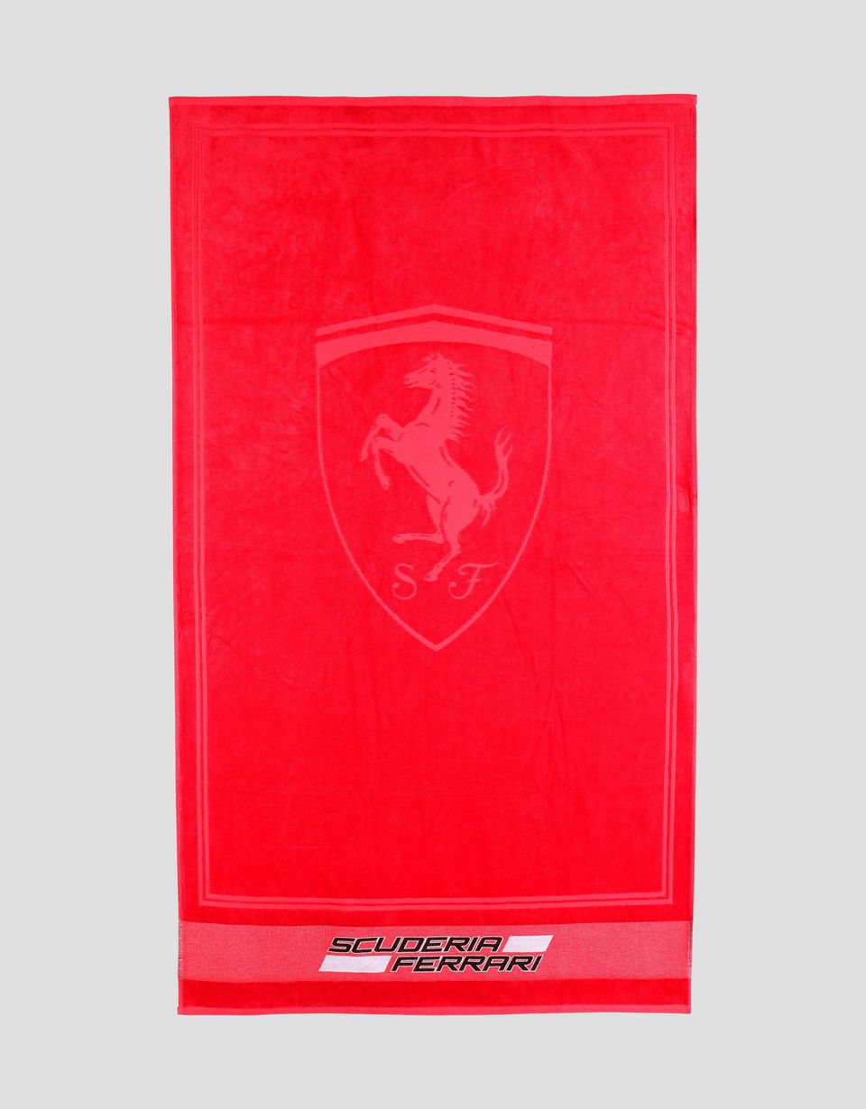 Scuderia Ferrari Online Store - Scuderia Ferrari cotton beach towel - Beach Towels