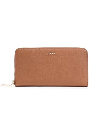 DKNY Pebbled-leather wallet